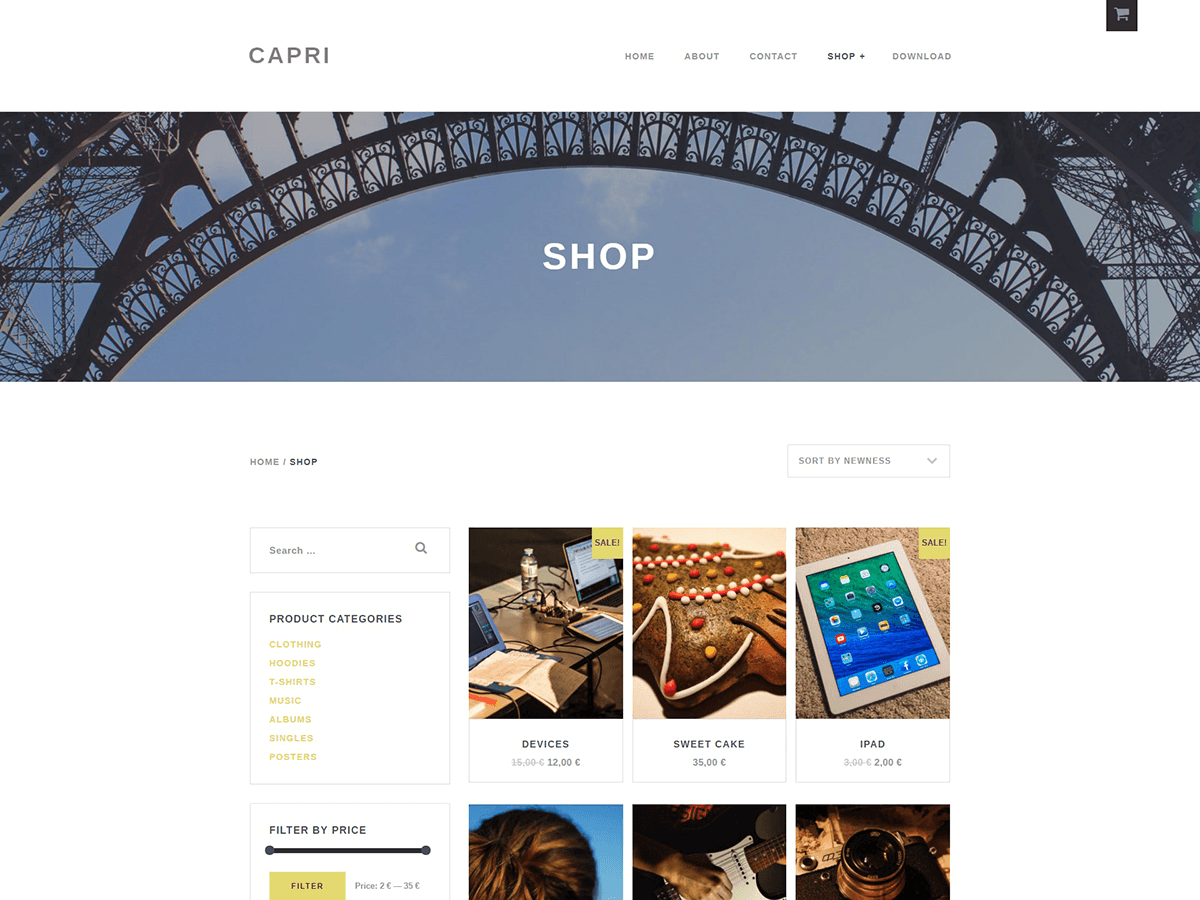 Capri Lite Preview Wordpress Theme - Rating, Reviews, Preview, Demo & Download