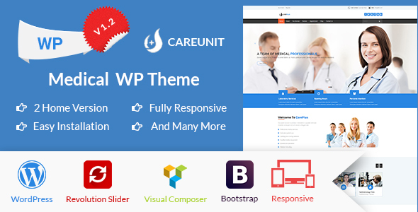 Careunit Preview Wordpress Theme - Rating, Reviews, Preview, Demo & Download