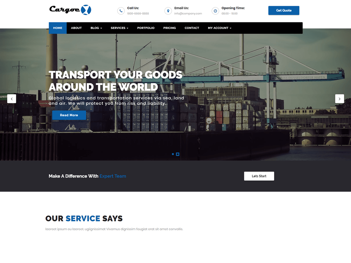 Cargoex Preview Wordpress Theme - Rating, Reviews, Preview, Demo & Download