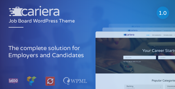 Cariera Preview Wordpress Theme - Rating, Reviews, Preview, Demo & Download