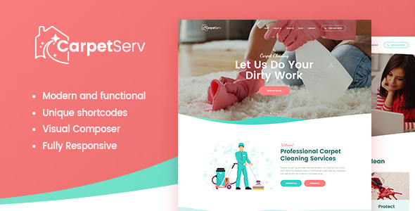 CarpetServ Preview Wordpress Theme - Rating, Reviews, Preview, Demo & Download