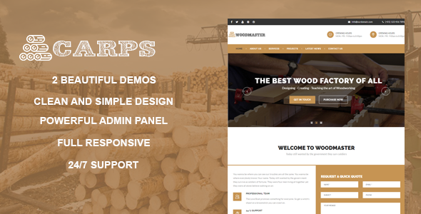Carps Preview Wordpress Theme - Rating, Reviews, Preview, Demo & Download