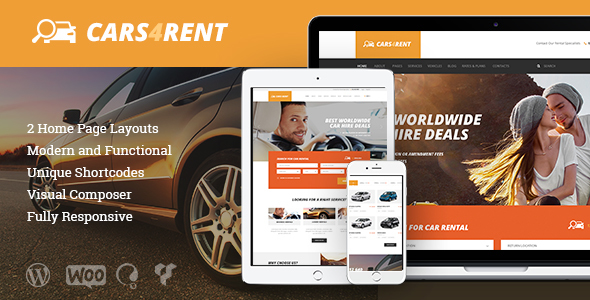 Cars4Rent Preview Wordpress Theme - Rating, Reviews, Preview, Demo & Download