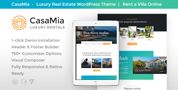CasaMia Preview Wordpress Theme - Rating, Reviews, Preview, Demo & Download