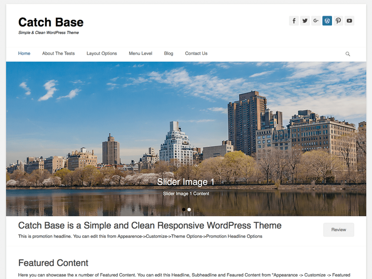 Catch Base Preview Wordpress Theme - Rating, Reviews, Preview, Demo & Download