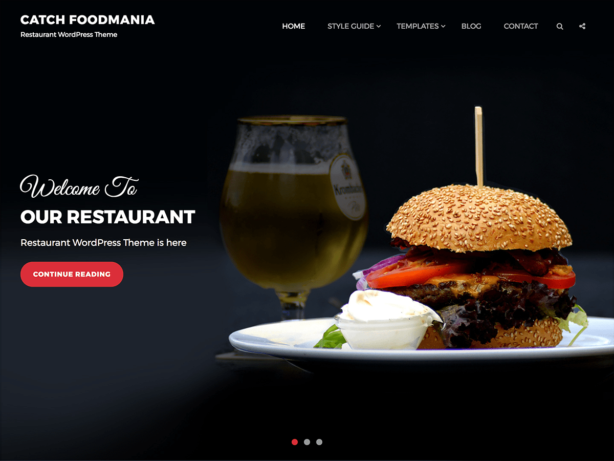 Catch Foodmania Preview Wordpress Theme - Rating, Reviews, Preview, Demo & Download
