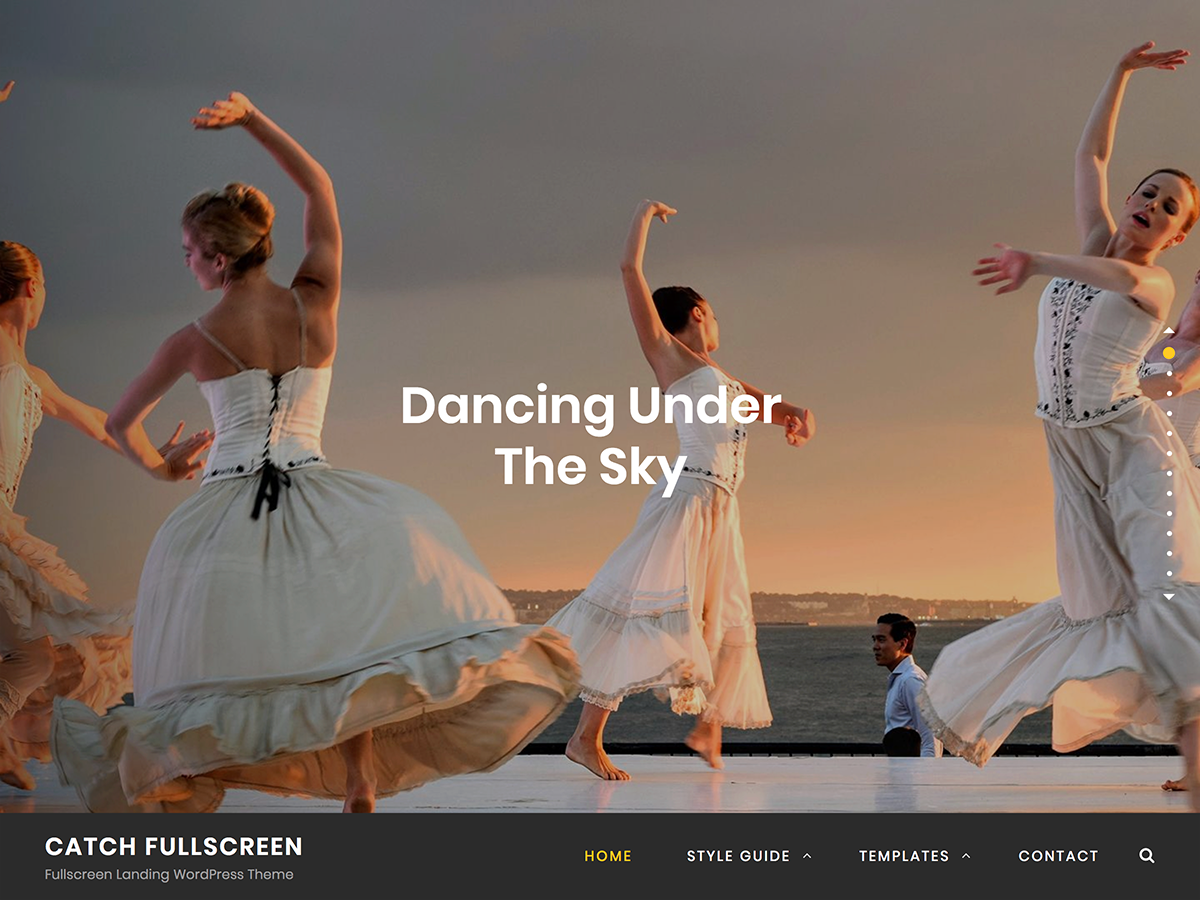 Catch Fullscreen Preview Wordpress Theme - Rating, Reviews, Preview, Demo & Download
