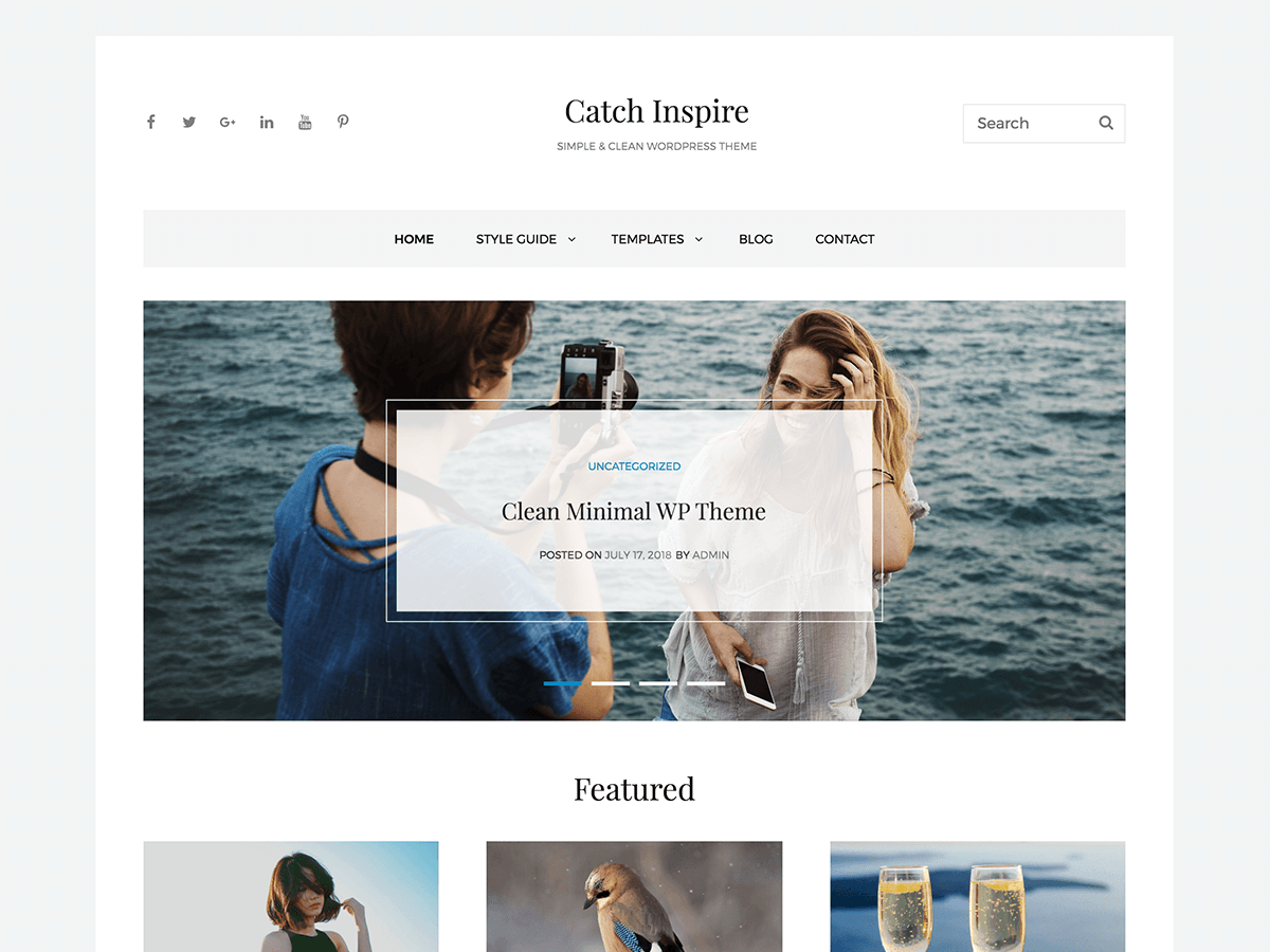 Catch Inspire Preview Wordpress Theme - Rating, Reviews, Preview, Demo & Download