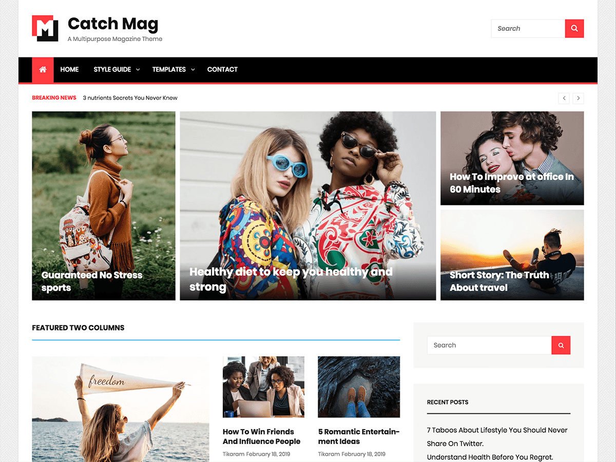 Catch Mag Preview Wordpress Theme - Rating, Reviews, Preview, Demo & Download