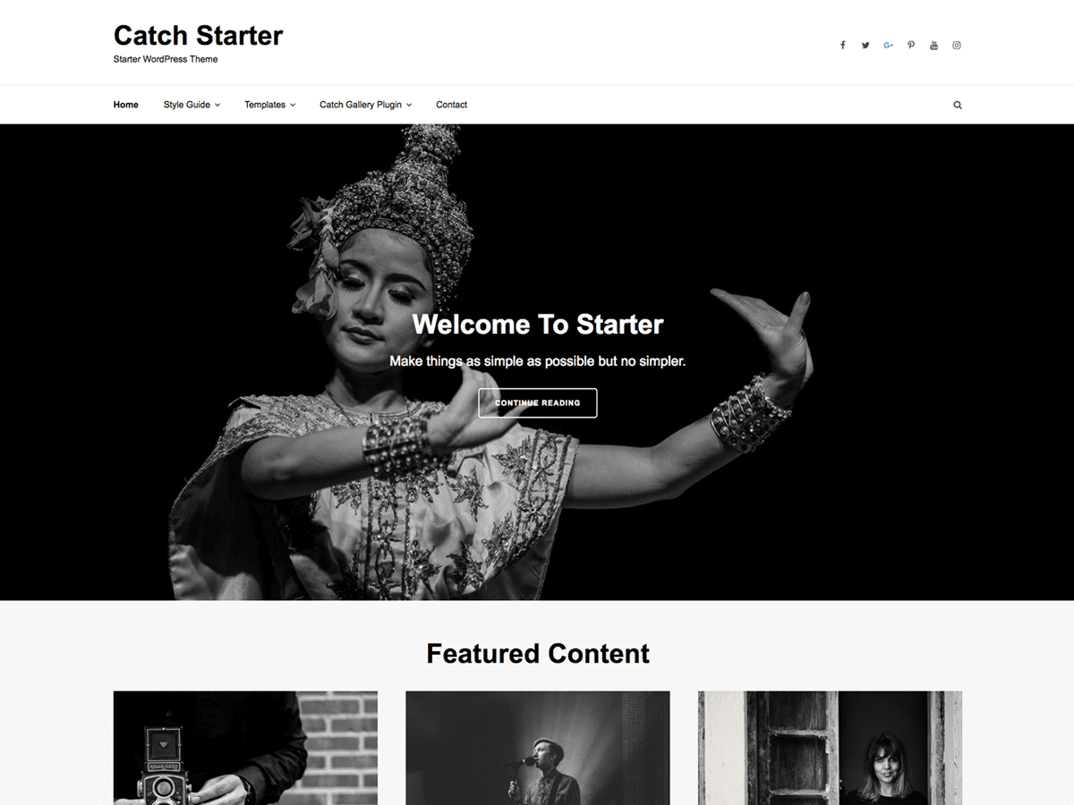 Catch Starter Preview Wordpress Theme - Rating, Reviews, Preview, Demo & Download