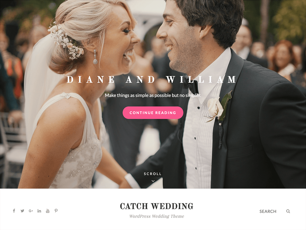 Catch Wedding Preview Wordpress Theme - Rating, Reviews, Preview, Demo & Download