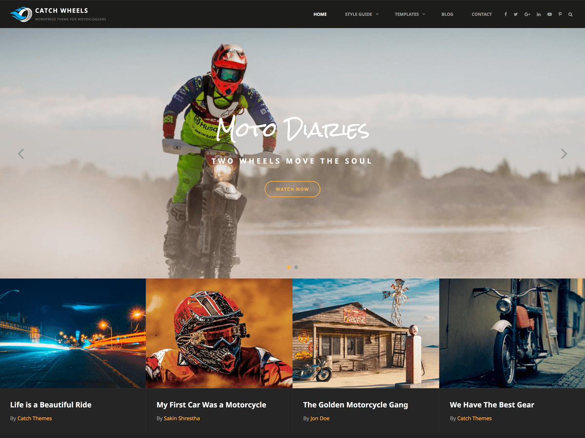 Catch Wheels Preview Wordpress Theme - Rating, Reviews, Preview, Demo & Download