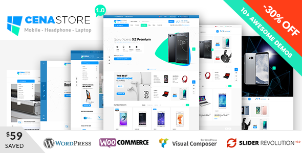 Cena Store Preview Wordpress Theme - Rating, Reviews, Preview, Demo & Download