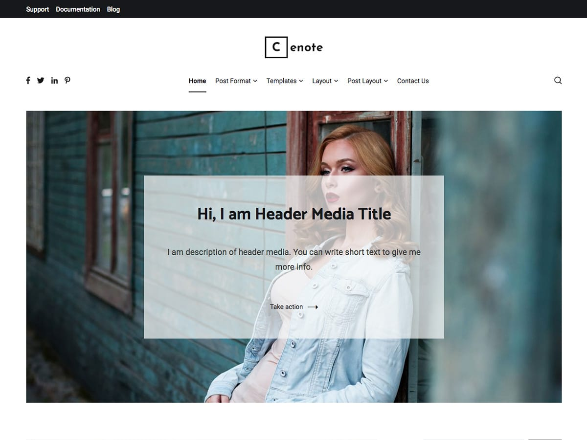 Cenote Preview Wordpress Theme - Rating, Reviews, Preview, Demo & Download