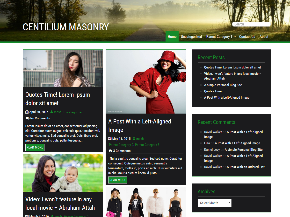 Centilium Masonry Preview Wordpress Theme - Rating, Reviews, Preview, Demo & Download