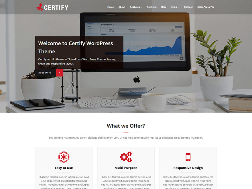 Certify Preview Wordpress Theme - Rating, Reviews, Preview, Demo & Download