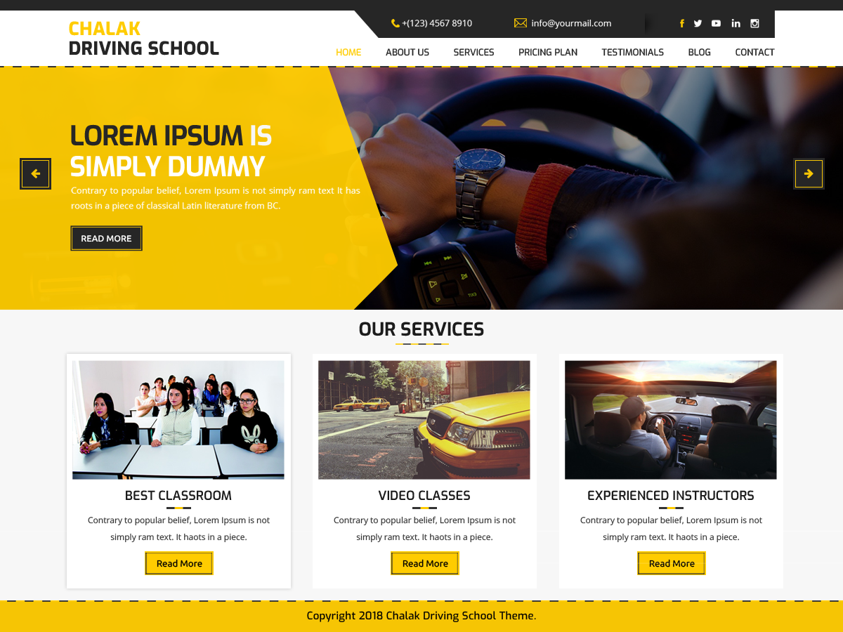 Chalak Driving Preview Wordpress Theme - Rating, Reviews, Preview, Demo & Download