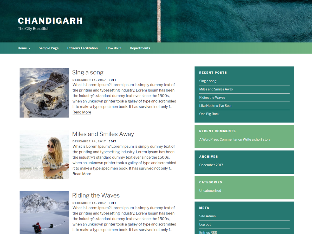 Chandigarh Preview Wordpress Theme - Rating, Reviews, Preview, Demo & Download