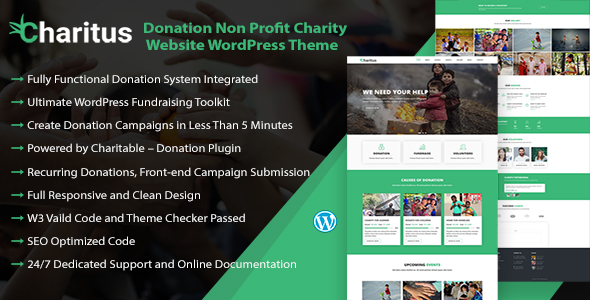 Charitus Preview Wordpress Theme - Rating, Reviews, Preview, Demo & Download