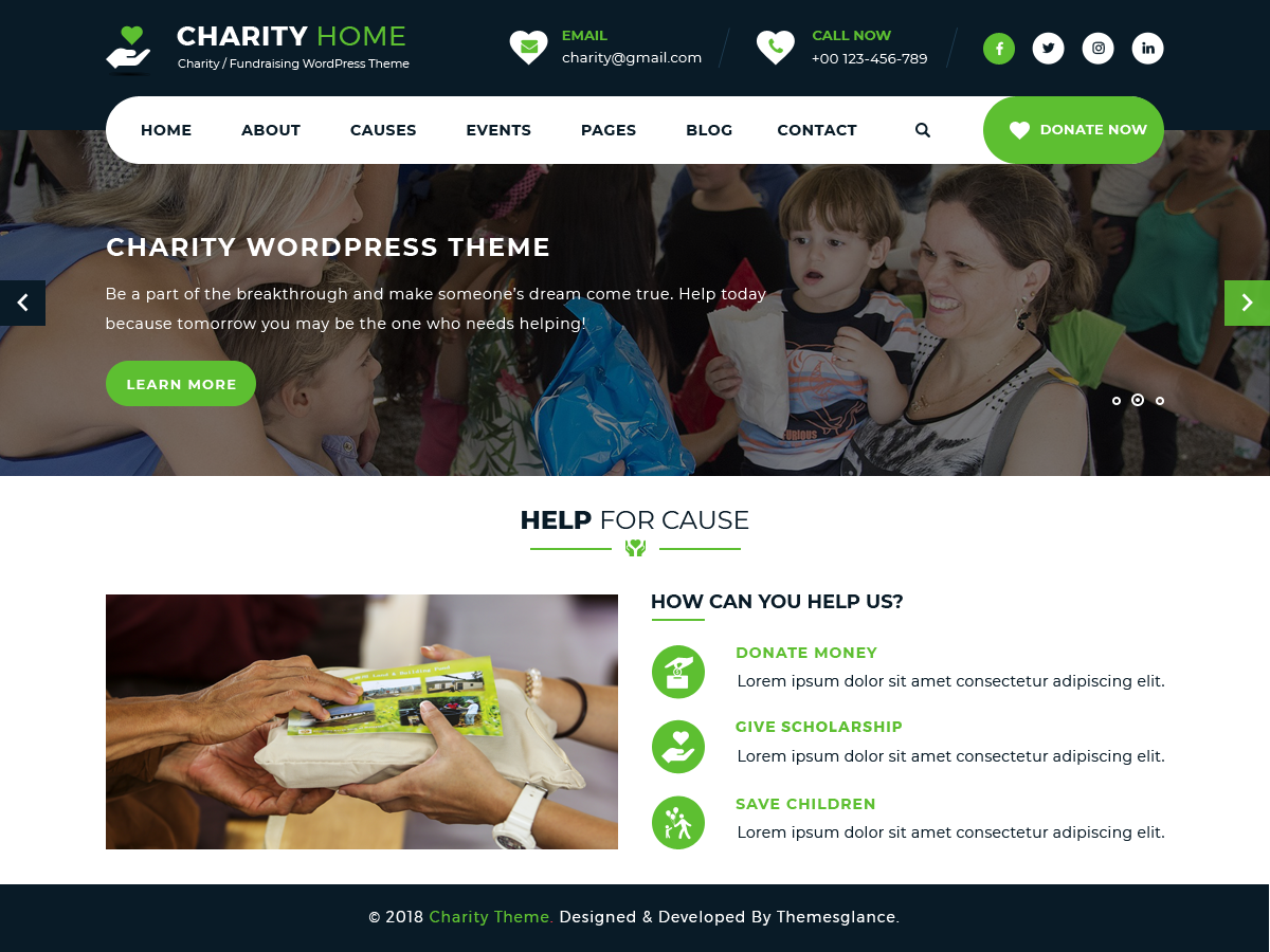 Charity Fundraiser Preview Wordpress Theme - Rating, Reviews, Preview, Demo & Download