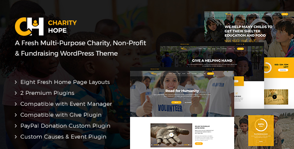 Charity Hope Preview Wordpress Theme - Rating, Reviews, Preview, Demo & Download