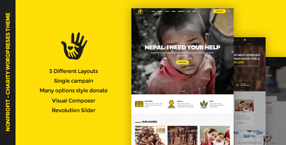 CharityHeart Preview Wordpress Theme - Rating, Reviews, Preview, Demo & Download