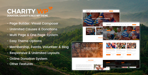 CharityWP Preview Wordpress Theme - Rating, Reviews, Preview, Demo & Download