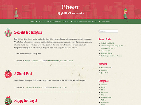 Cheer Preview Wordpress Theme - Rating, Reviews, Preview, Demo & Download