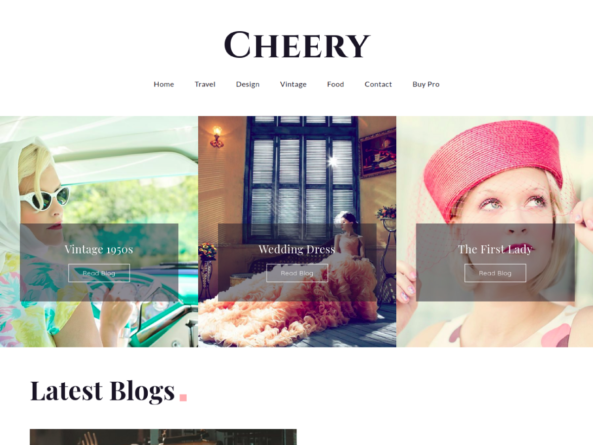 Cheery Preview Wordpress Theme - Rating, Reviews, Preview, Demo & Download