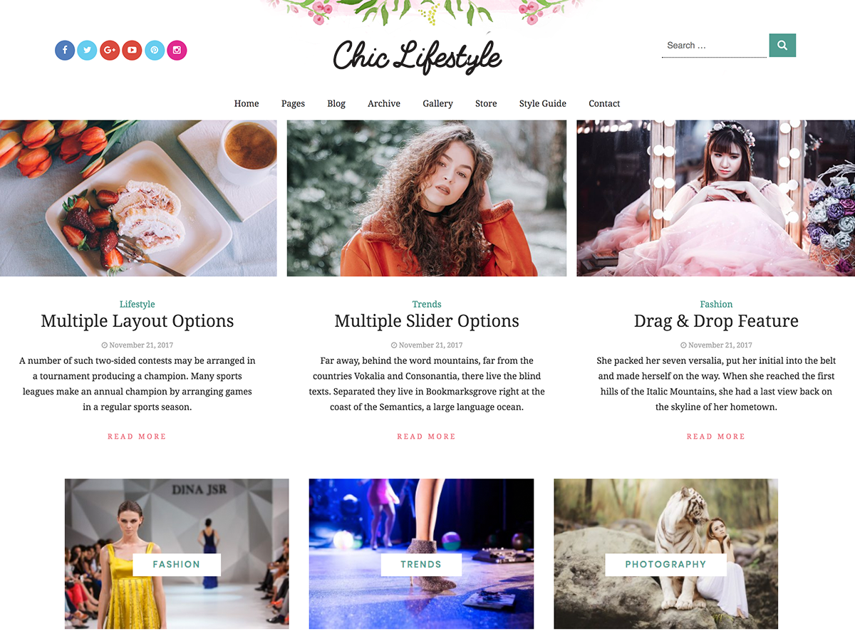 Chic Lifestyle Preview Wordpress Theme - Rating, Reviews, Preview, Demo & Download