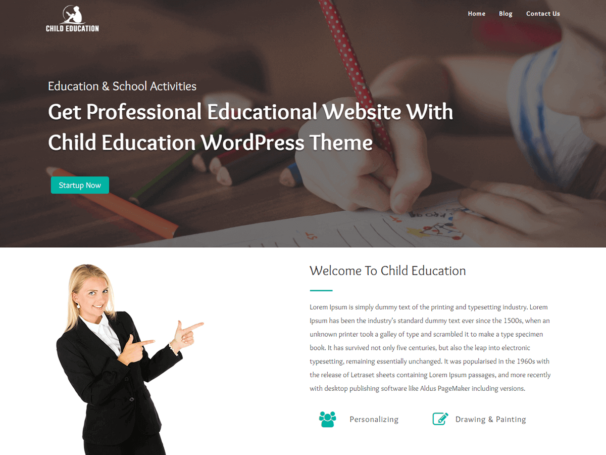 Child Education Preview Wordpress Theme - Rating, Reviews, Preview, Demo & Download