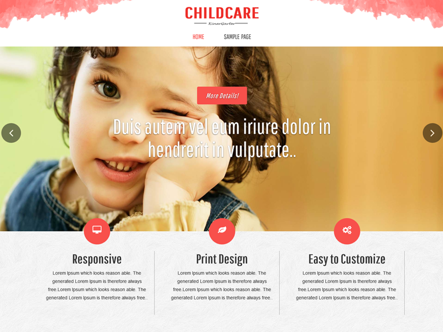 Childcare Preview Wordpress Theme - Rating, Reviews, Preview, Demo & Download
