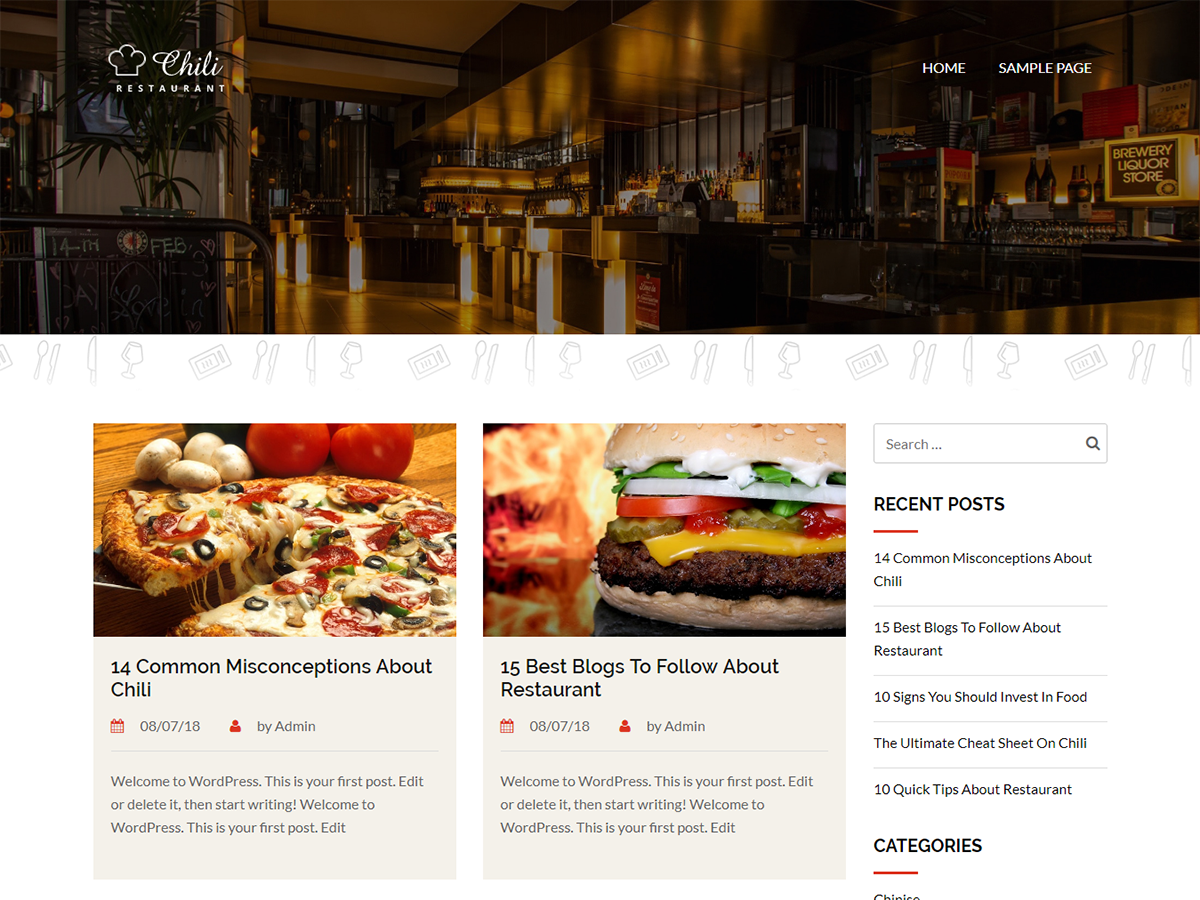 Chili Lite Preview Wordpress Theme - Rating, Reviews, Preview, Demo & Download