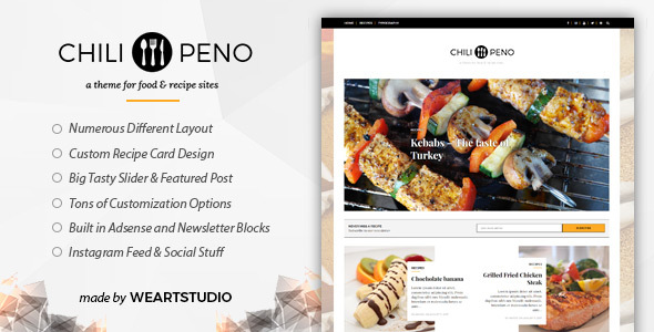Chilipeno Preview Wordpress Theme - Rating, Reviews, Preview, Demo & Download