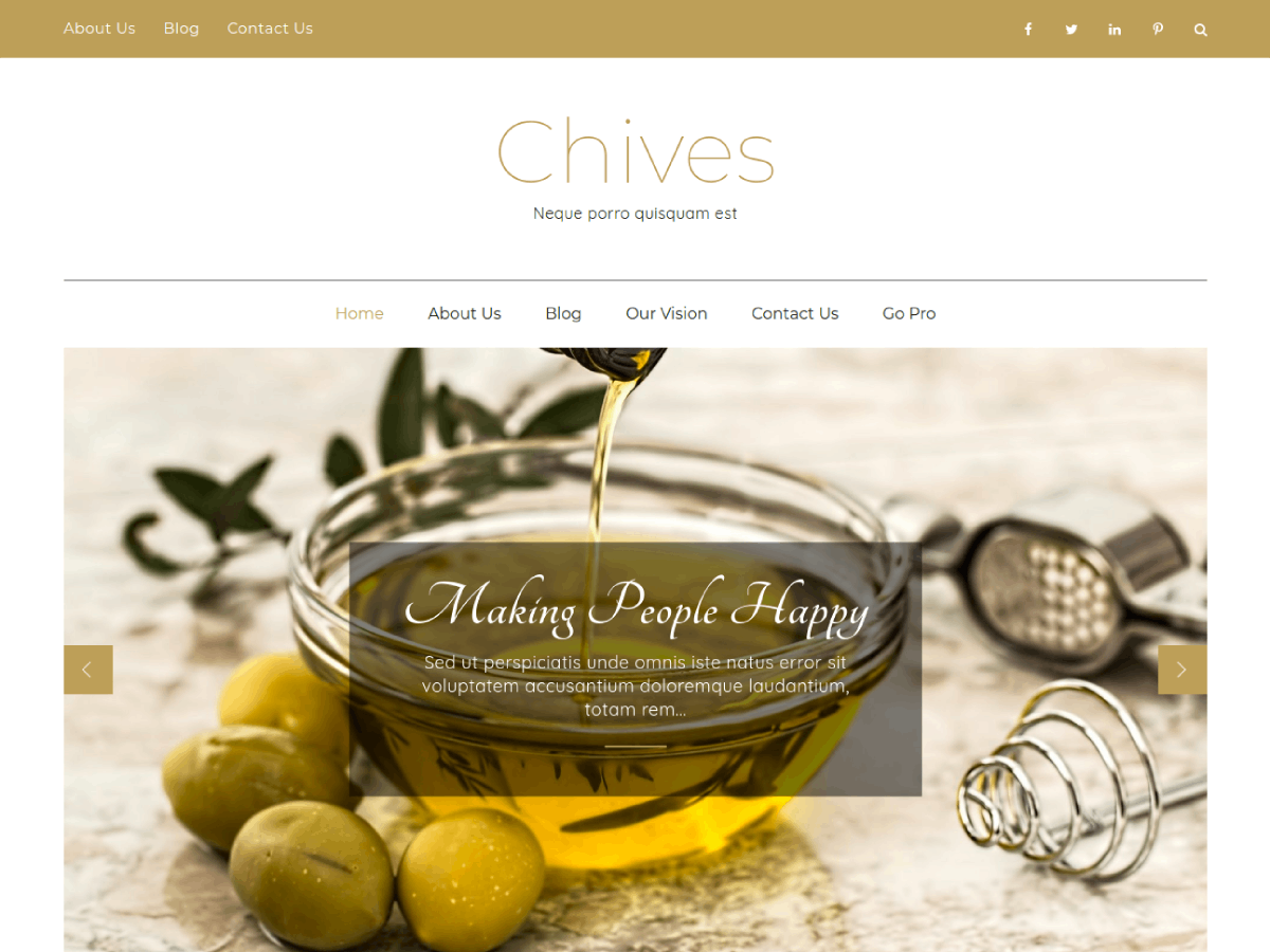 Chives Preview Wordpress Theme - Rating, Reviews, Preview, Demo & Download