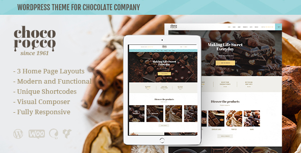 ChocoRocco Preview Wordpress Theme - Rating, Reviews, Preview, Demo & Download