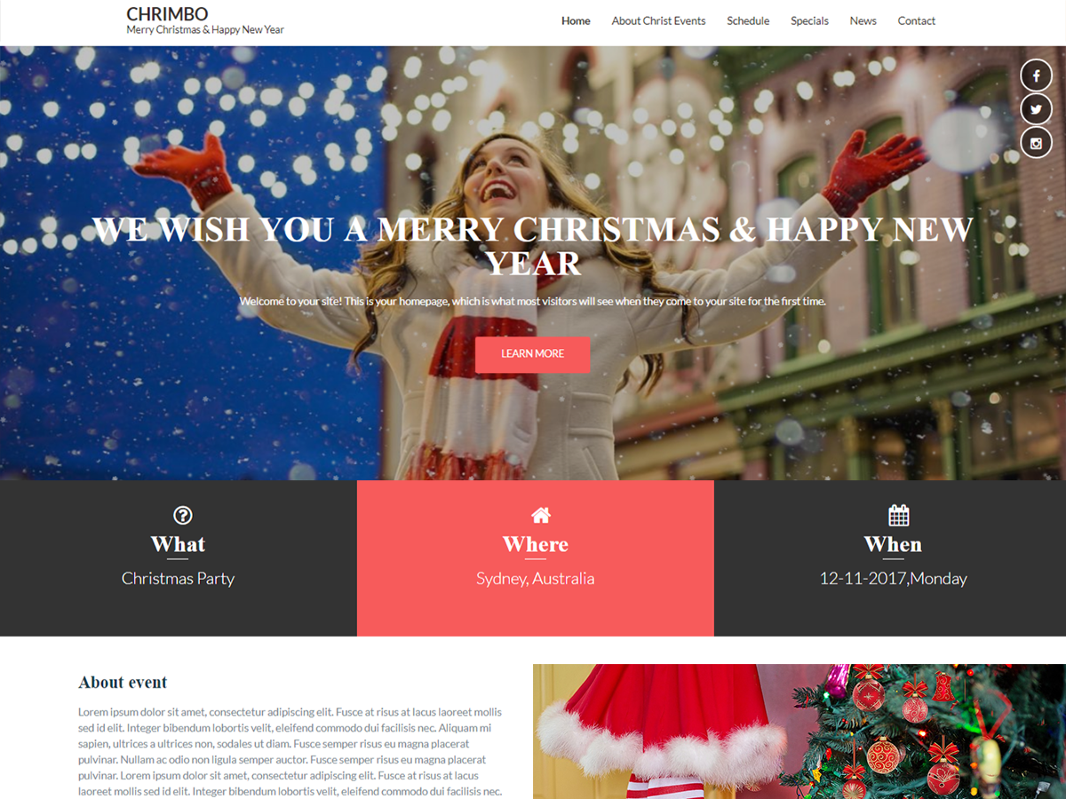 Chrimbo Preview Wordpress Theme - Rating, Reviews, Preview, Demo & Download