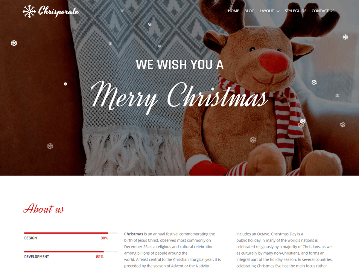 Chrisporate Preview Wordpress Theme - Rating, Reviews, Preview, Demo & Download