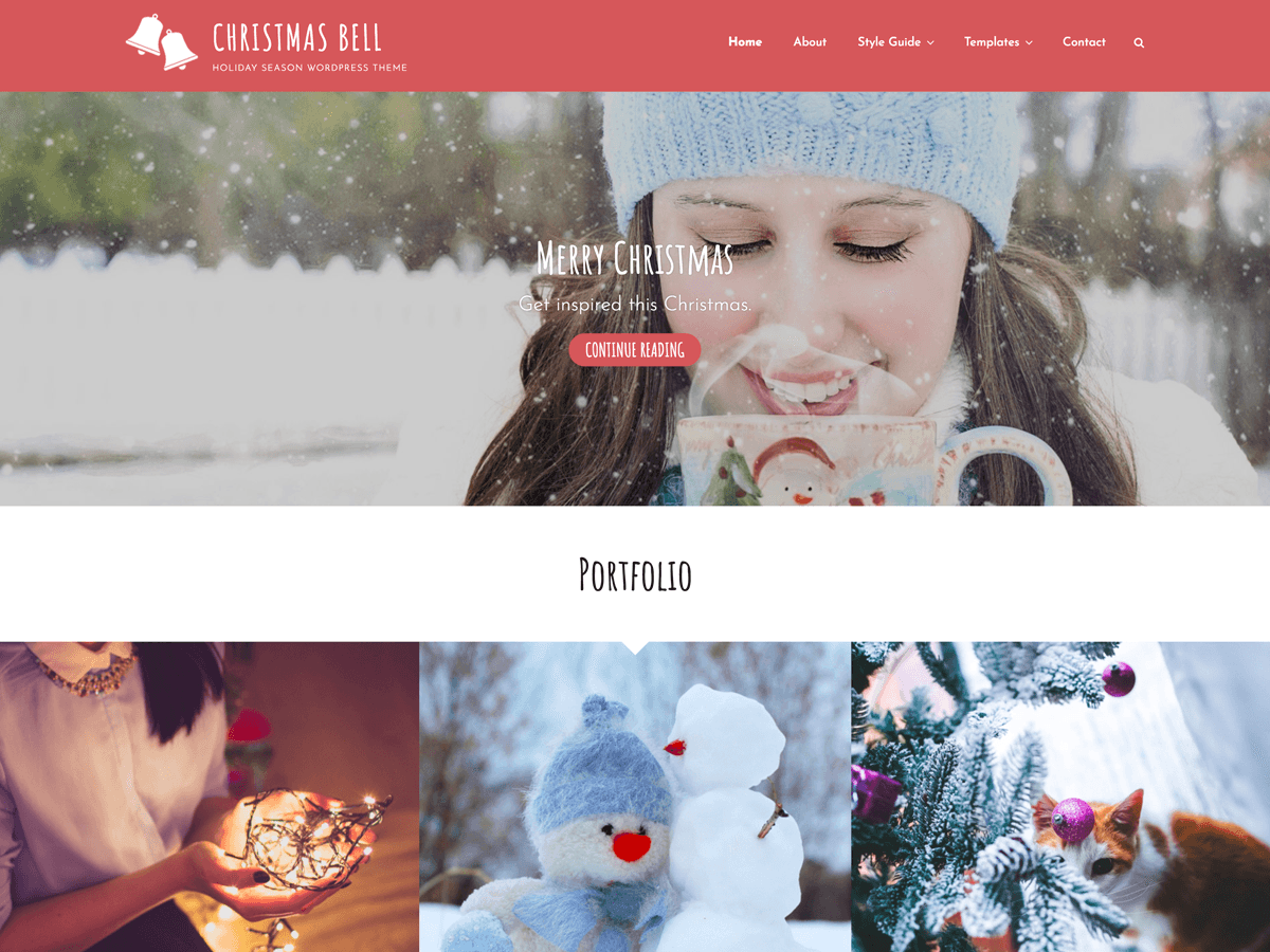 Christmas Bell Preview Wordpress Theme - Rating, Reviews, Preview, Demo & Download