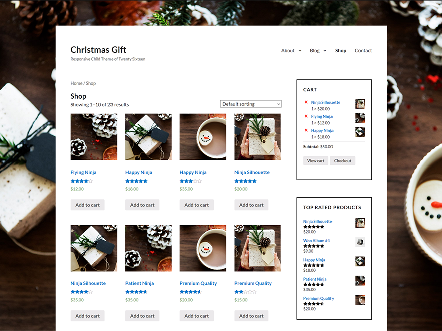 Christmas Gift Preview Wordpress Theme - Rating, Reviews, Preview, Demo & Download