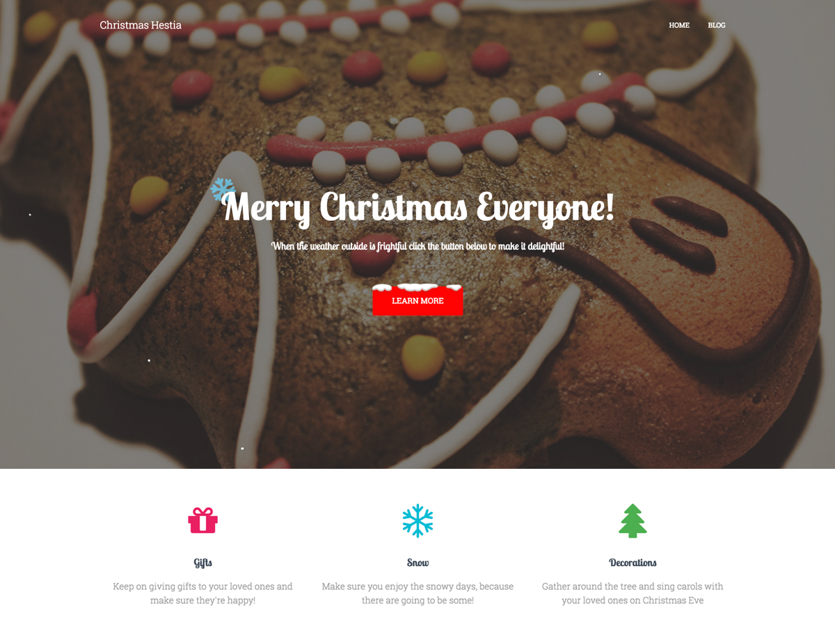 Christmas Hestia Preview Wordpress Theme - Rating, Reviews, Preview, Demo & Download