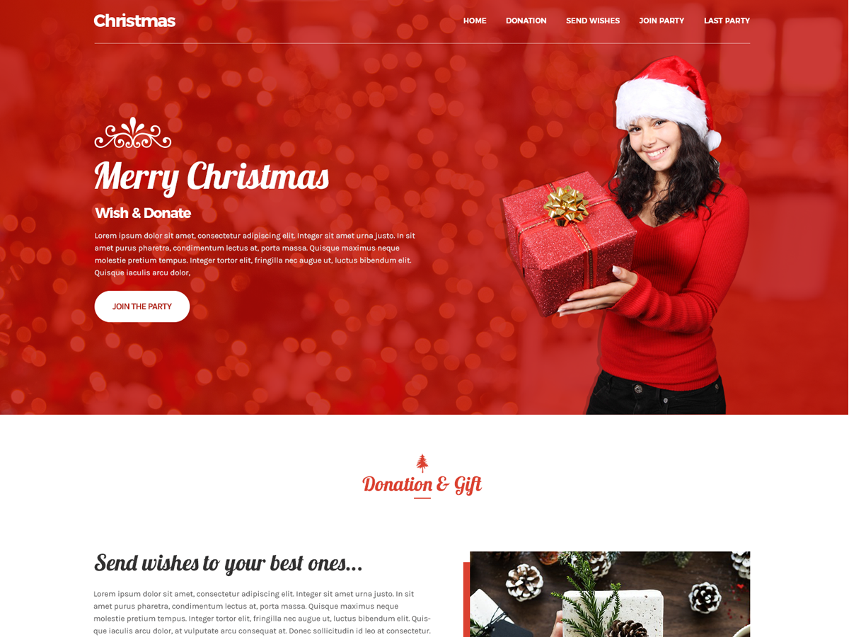 Christmas Preview Wordpress Theme - Rating, Reviews, Preview, Demo & Download