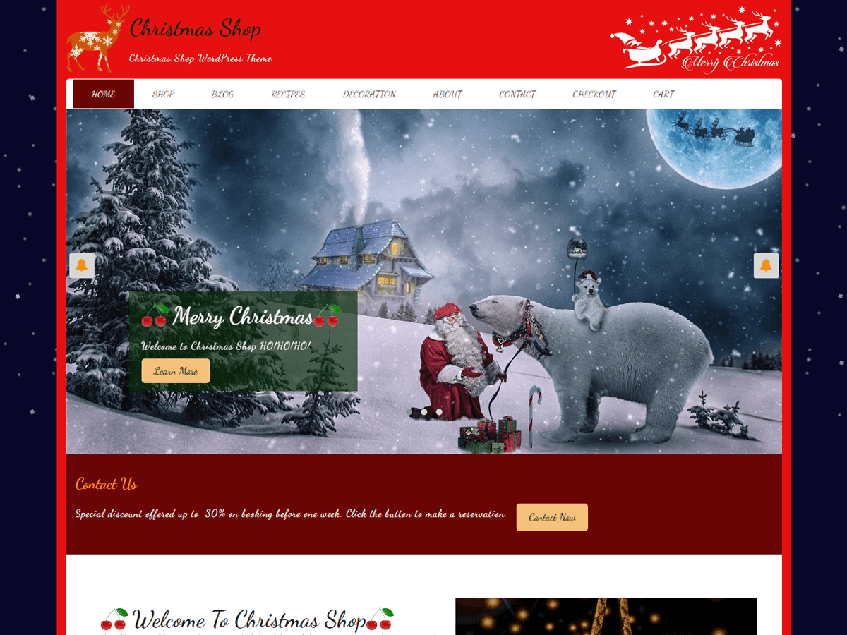 Christmas Shop Preview Wordpress Theme - Rating, Reviews, Preview, Demo & Download