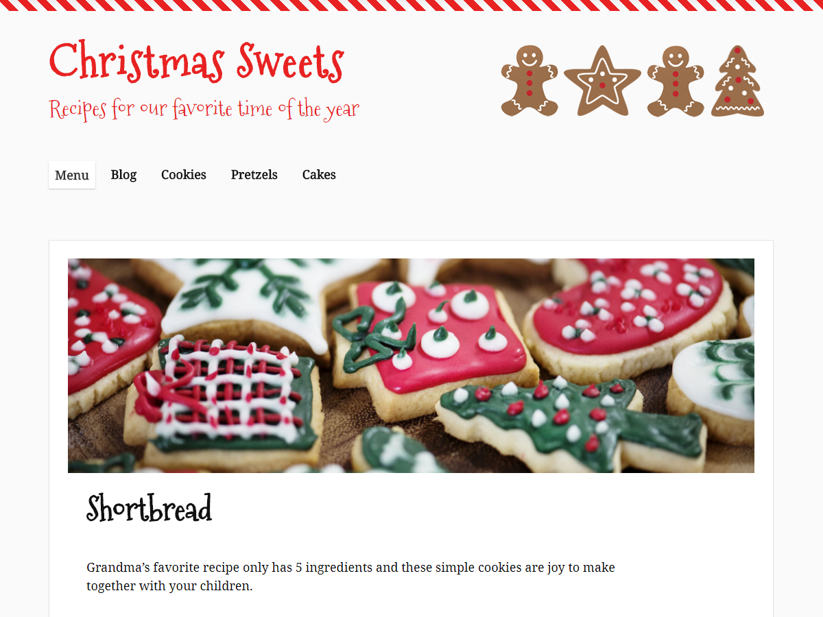 Christmas Sweets Preview Wordpress Theme - Rating, Reviews, Preview, Demo & Download