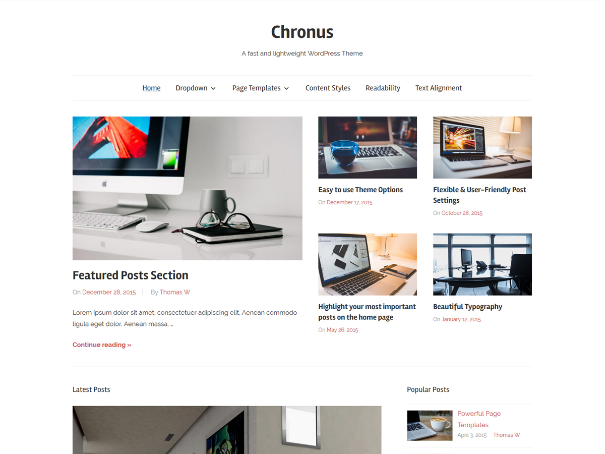 Chronus Preview Wordpress Theme - Rating, Reviews, Preview, Demo & Download