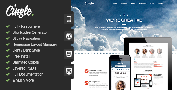 Cingle Preview Wordpress Theme - Rating, Reviews, Preview, Demo & Download