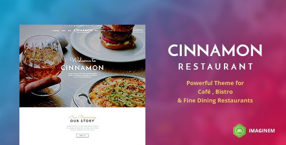 Cinnamon Restaurant Preview Wordpress Theme - Rating, Reviews, Preview, Demo & Download