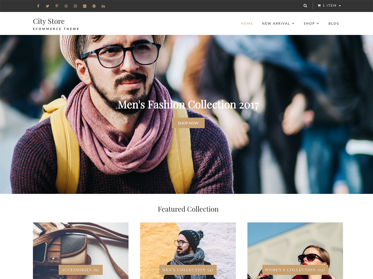 City Store Preview Wordpress Theme - Rating, Reviews, Preview, Demo & Download