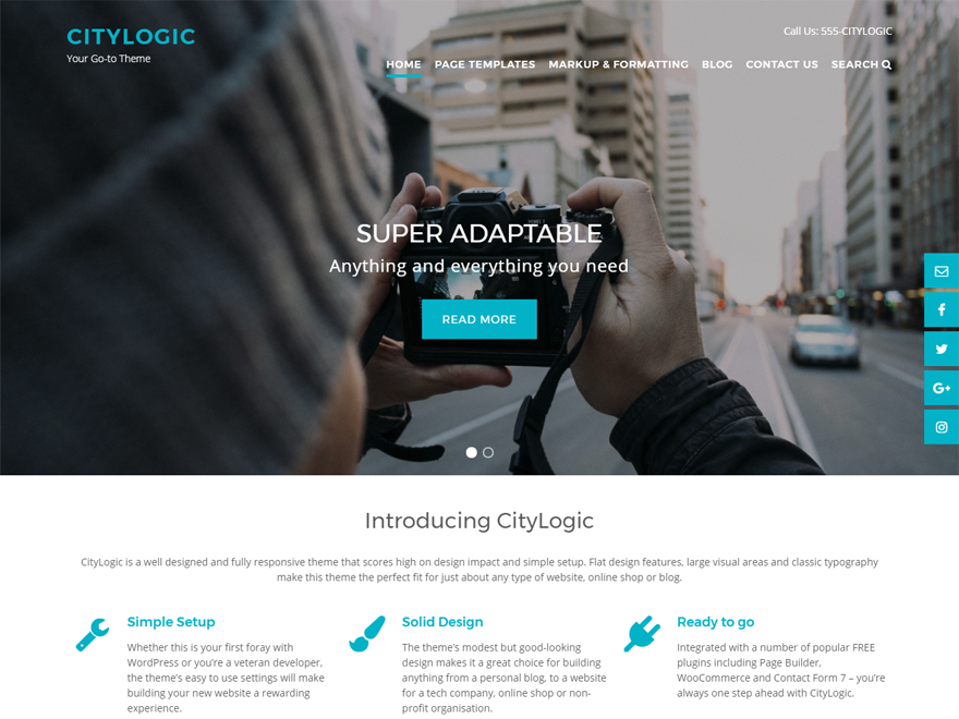 CityLogic Preview Wordpress Theme - Rating, Reviews, Preview, Demo & Download
