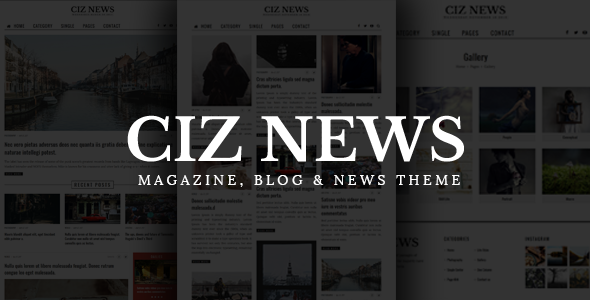 Ciz News Preview Wordpress Theme - Rating, Reviews, Preview, Demo & Download